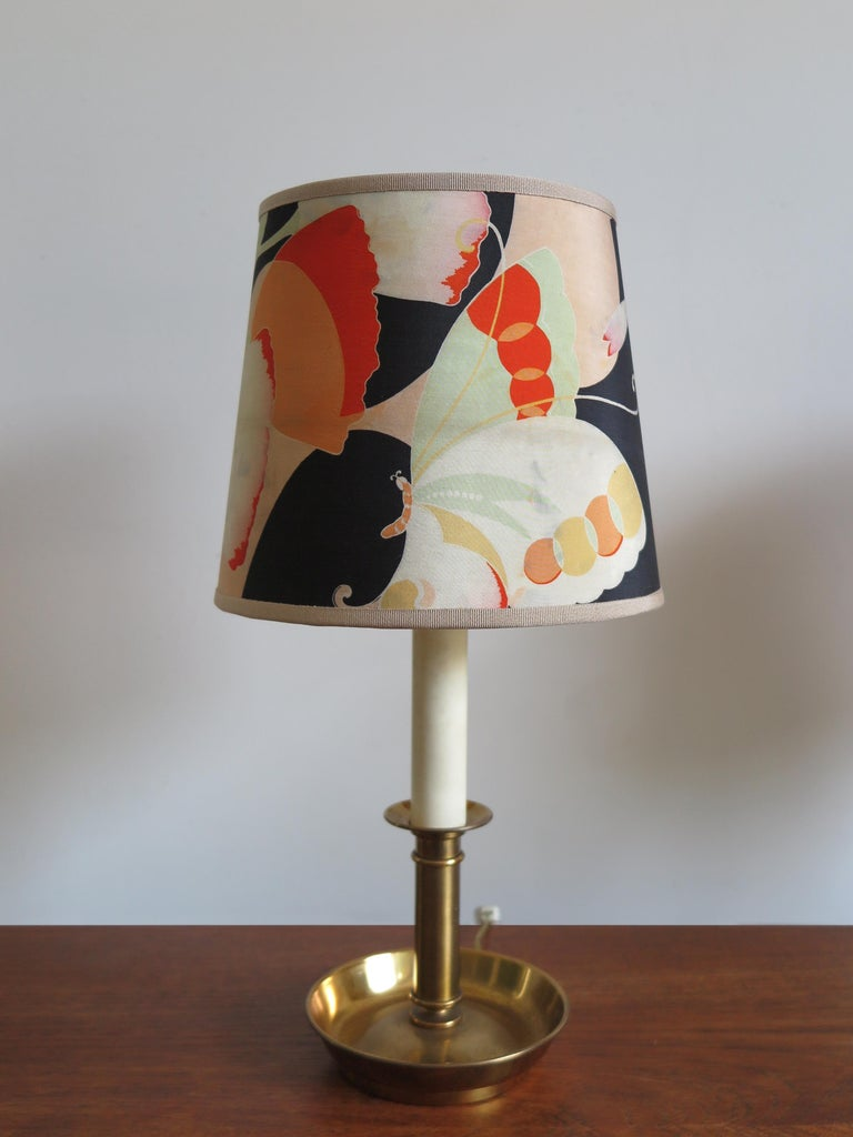 Mid-20th Century Stilnovo Italian Lampshades or Table Lamps with Old Kimono, 1960s For Sale