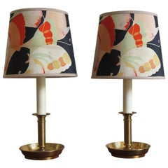 Stilnovo Italian Lampshades or Table Lamps with Old Kimono, 1960s