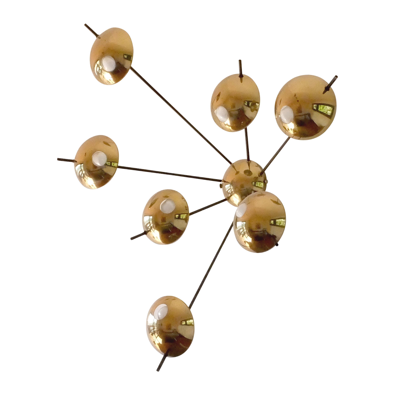 "Stilnovo, Italian Mid-Century Modern, Brass Applique ""model 1036"", 1950"
