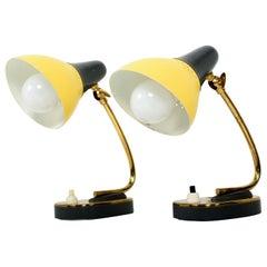 Stilnovo Italian Mid-Century Modern Pair of Table Lamps Sassy Sculptural Shape