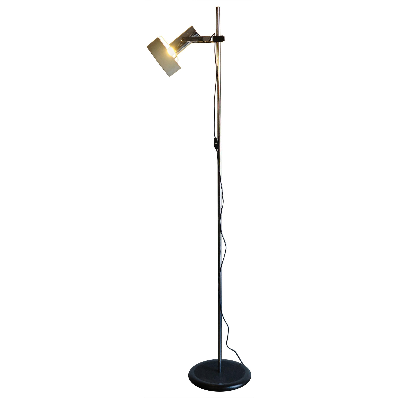 Stilnovo Italian Midcentury Modern Design White Floor lamp, 1960s