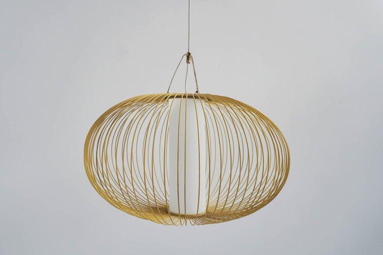 Mid-Century Modern Stilnovo Italian Pendant Lanmp For Sale
