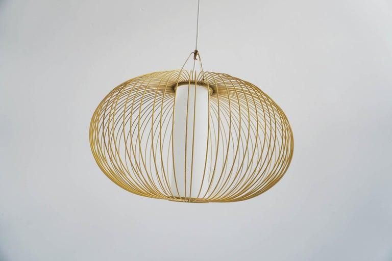 Lacquered Stilnovo Italian Pendant Lanmp For Sale