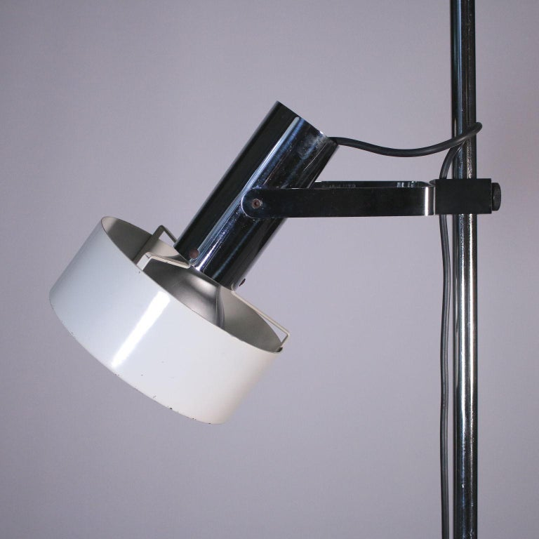 20th Century Stilnovo Lamp, Lacquered Aluminum and Chromed Metal, 1960s-1970s For Sale