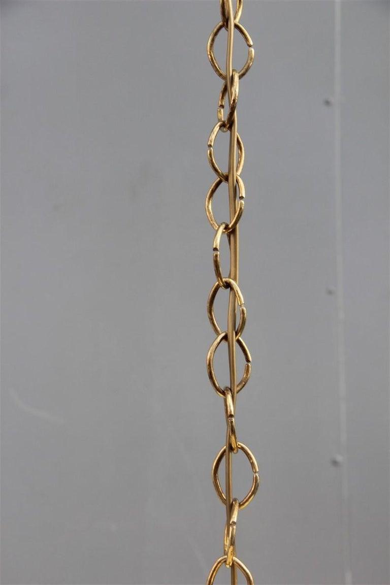 Stilnovo Style Midcentury Lantern Italian Design Brass Gold 1950s Cone Form For Sale 2