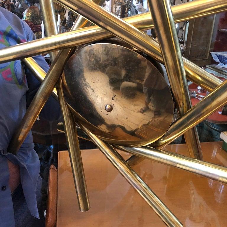 Stilnovo Mid-Century Modern Brass 16-Light Sputnik Chandelier, circa 1950 For Sale 6