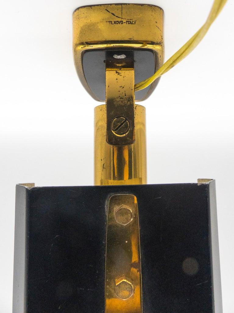 Mid-20th Century Stilnovo Model '2133' Labeled Midcentury Brass Adjustable Wall Light, 1950s For Sale