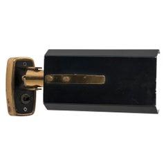 Stilnovo Model '2133' Labeled Midcentury Brass Adjustable Wall Light, 1950s