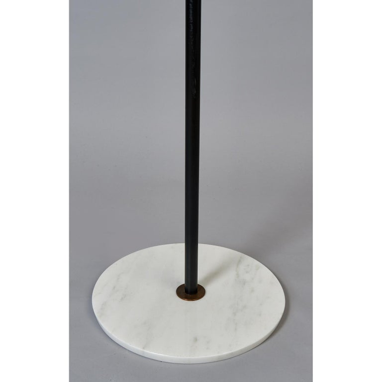 Stilnovo Monumental Floor Lamp in Marble and White Glass, Italy 1950's In Good Condition For Sale In New York, NY