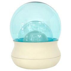 Stilnovo Orb Italian Blue Triple Dome Glass Table Lamp Model TL 278