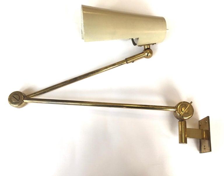 Stilnovo Original Adjustable Wall Lamp, 1950 For Sale 4