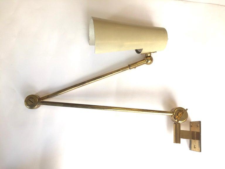 Stilnovo Original Adjustable Wall Lamp, 1950 For Sale 5