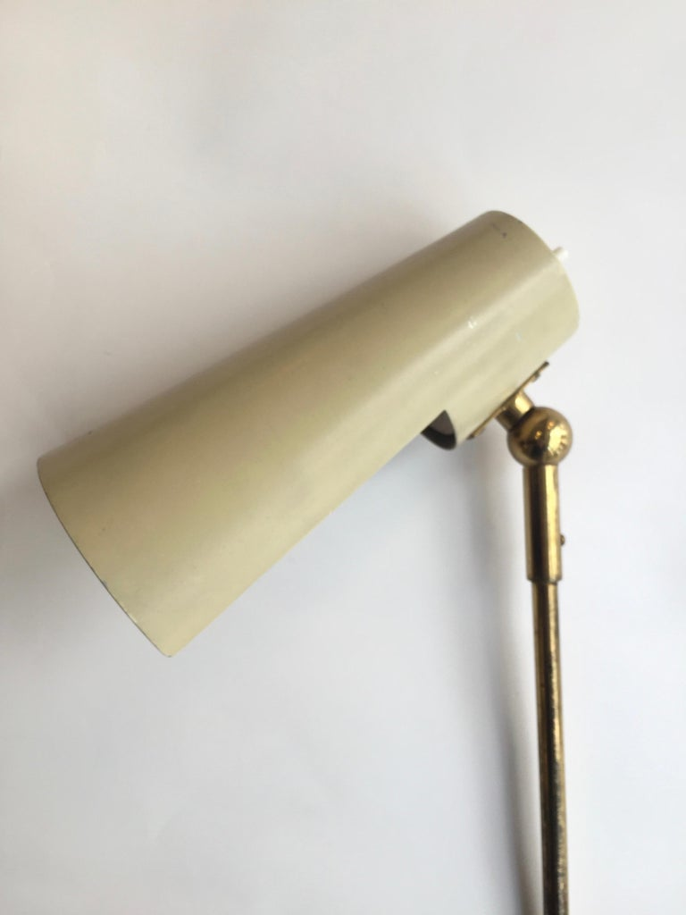 Stilnovo Original Adjustable Wall Lamp, 1950 In Good Condition For Sale In Madrid, ES