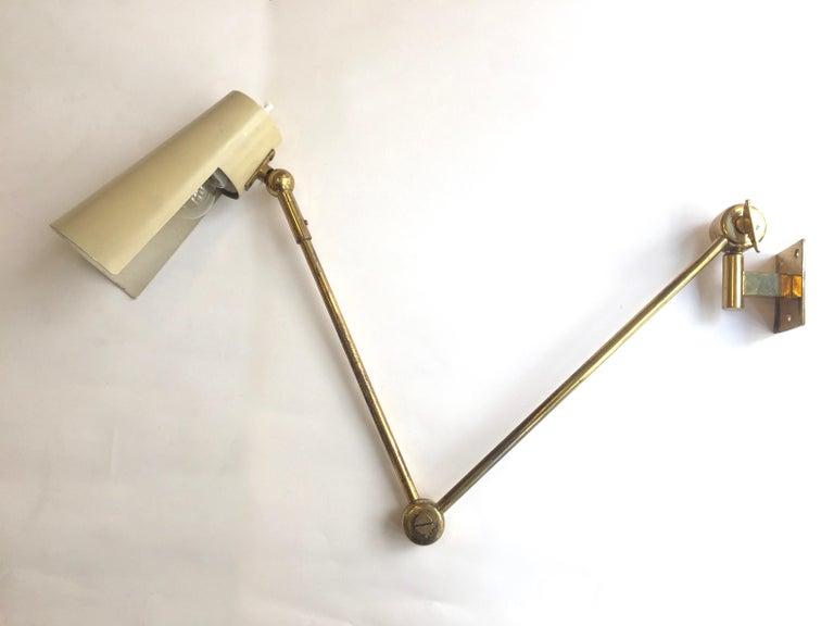 Stilnovo Original Adjustable Wall Lamp, 1950 For Sale 2