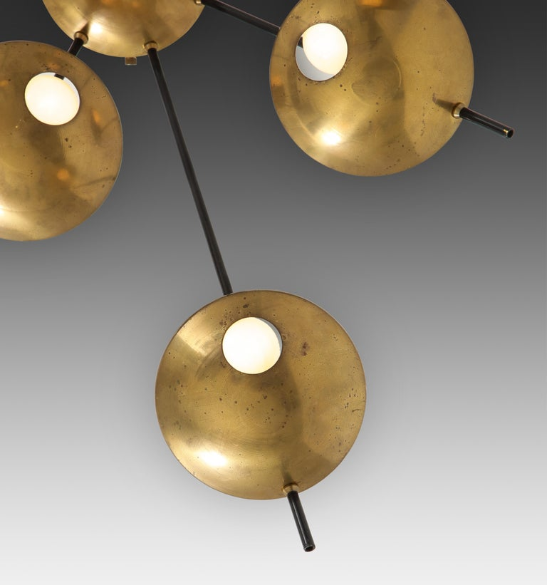 Stilnovo Original Ceiling or Wall Light Model 1036 In Good Condition For Sale In New York, NY