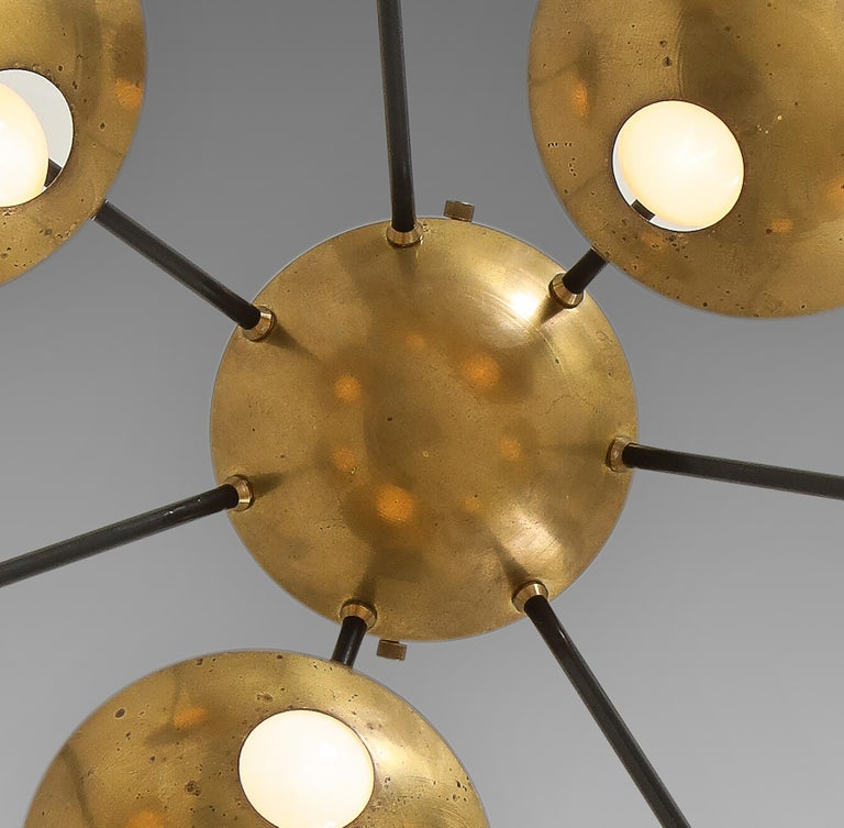 Metal Stilnovo Original Ceiling or Wall Light Model 1036 For Sale