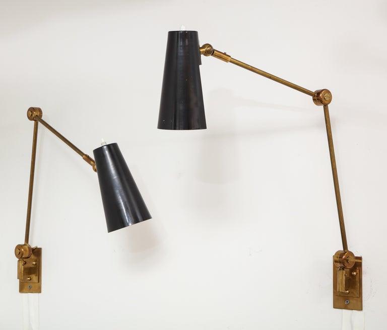 Mid-Century Modern Stilnovo Pair of Wall Lights Model 2024 For Sale
