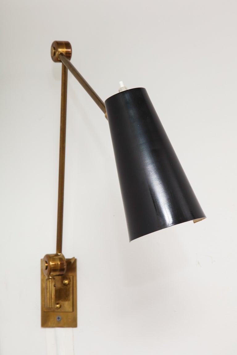 Italian Stilnovo Pair of Wall Lights Model 2024 For Sale
