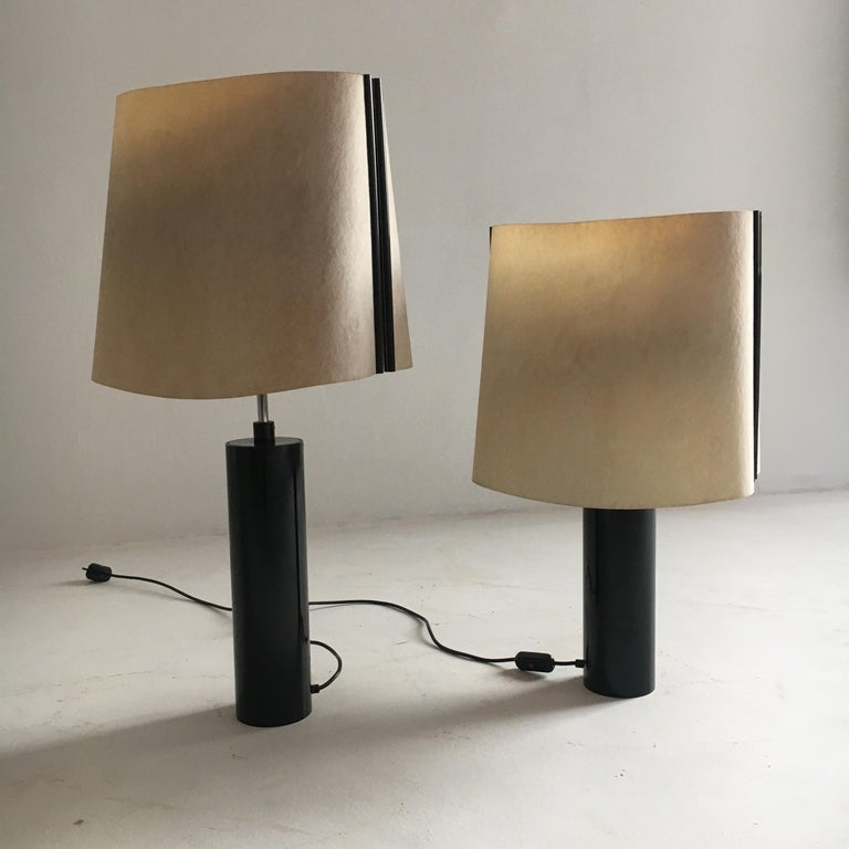Stilnovo Pair of Table Lamps Model Paralume, Italy, 1970 For Sale 3