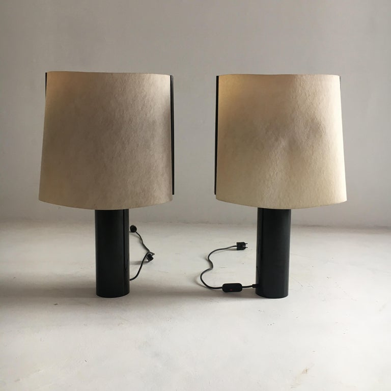 Stilnovo pair of table lamps model Paralume, Italy, 1970.