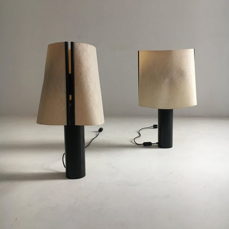 Mid-Century Modern Stilnovo Pair of Table Lamps Model Paralume, Italy, 1970 For Sale