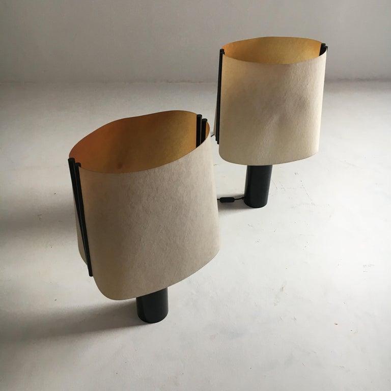 Italian Stilnovo Pair of Table Lamps Model Paralume, Italy, 1970 For Sale