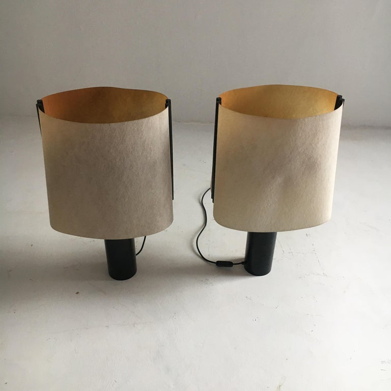 Stilnovo Pair of Table Lamps Model Paralume, Italy, 1970 In Good Condition For Sale In Vienna, AT