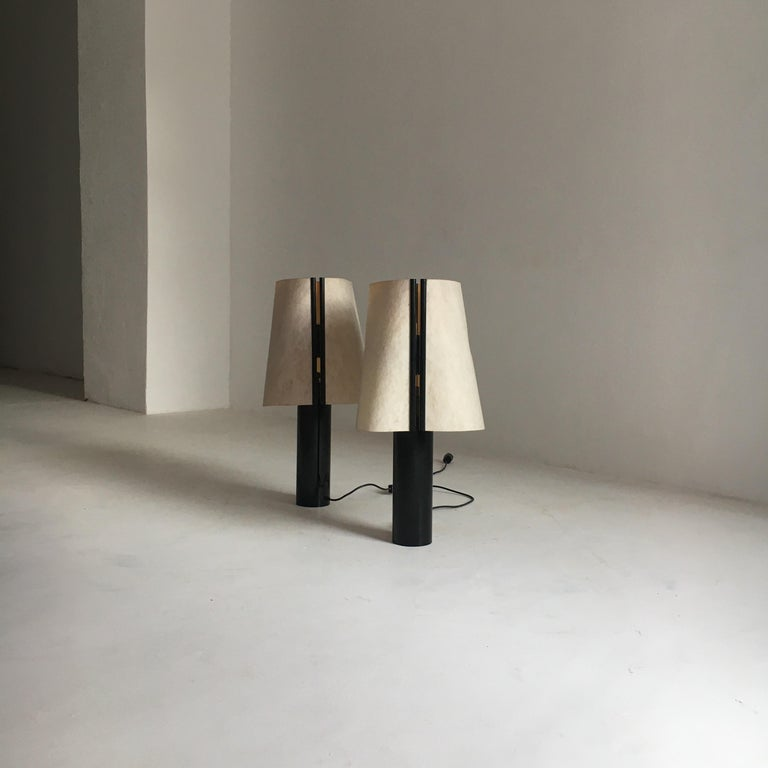 Late 20th Century Stilnovo Pair of Table Lamps Model Paralume, Italy, 1970 For Sale