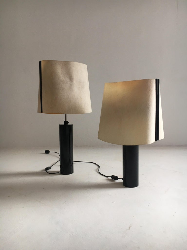 Stilnovo Pair of Table Lamps Model Paralume, Italy, 1970 For Sale 2
