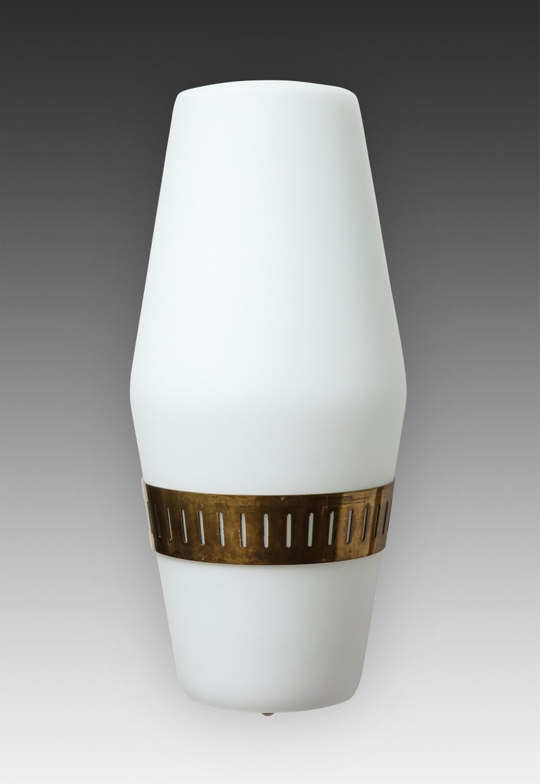 Brass Stilnovo Pairs of Sconces Model 2078