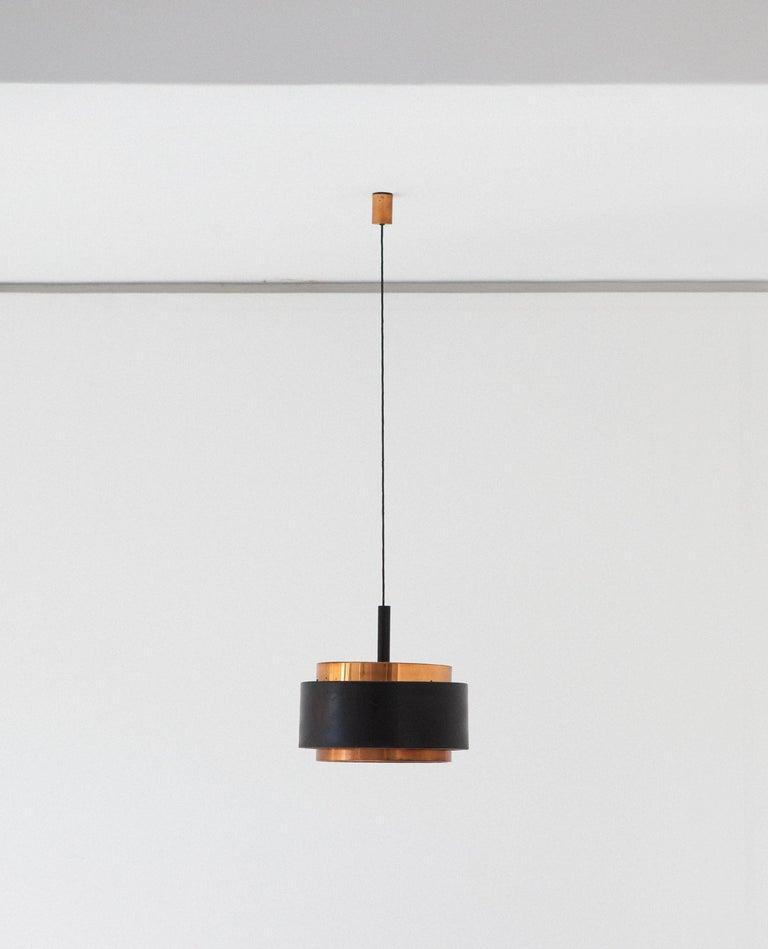 Mid-Century Modern Stilnovo Pendant Copper Chandelier, 1958