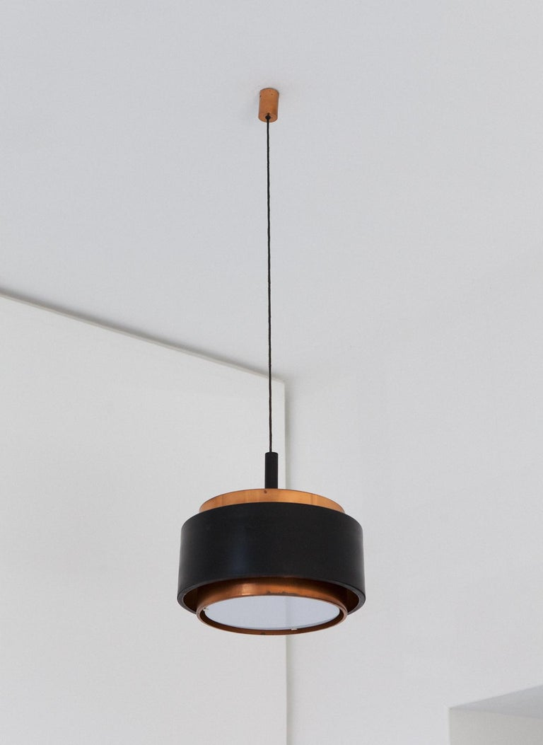 Stilnovo Pendant Copper Chandelier, 1958 1