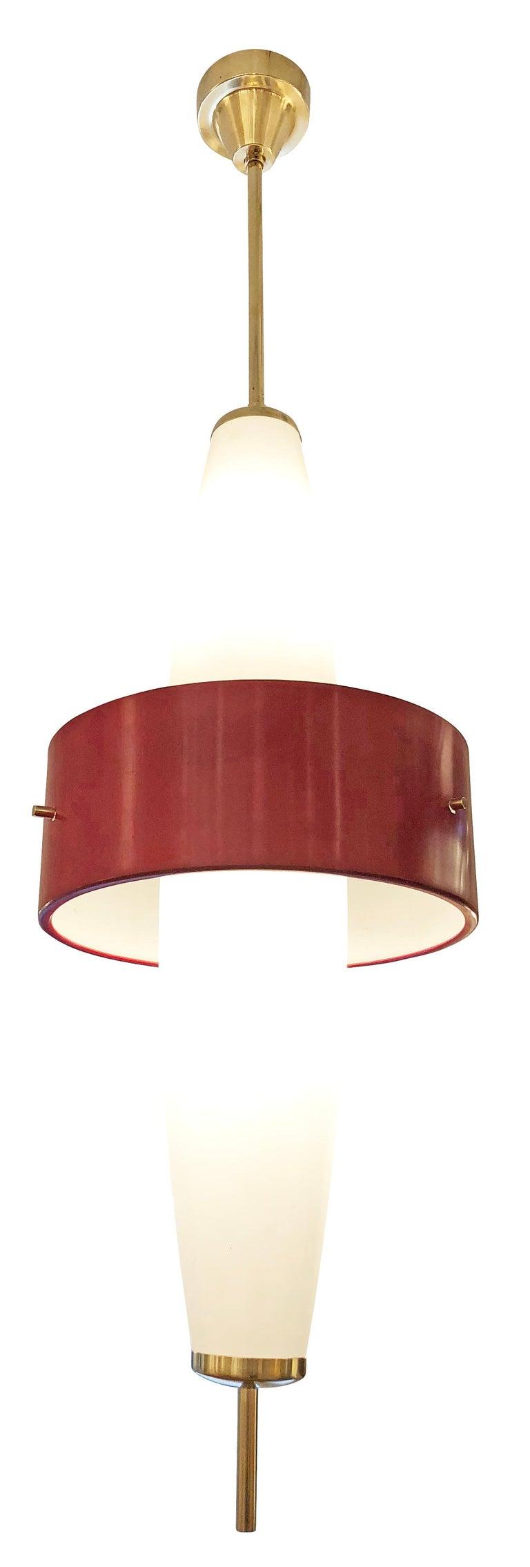 Mid-Century Modern Stilnovo Pendant, Italy, 1960s For Sale