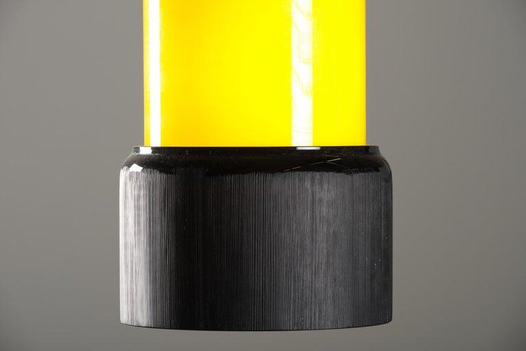 Mid-Century Modern Stilnovo Pendant Lamp in Glass, Italian Design, 1950s For Sale