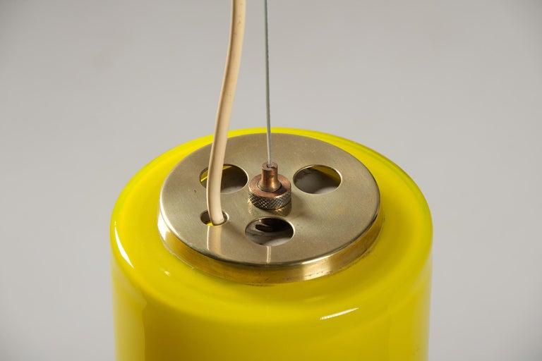 Stilnovo Pendant Lamp in Glass, Italian Design, 1950s For Sale 2
