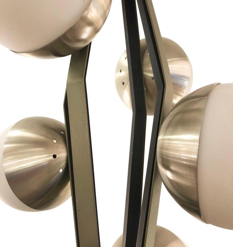 Italian Stilnovo Pendant with Eight Globes For Sale