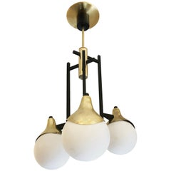 Stilnovo Pendant with Three Globes