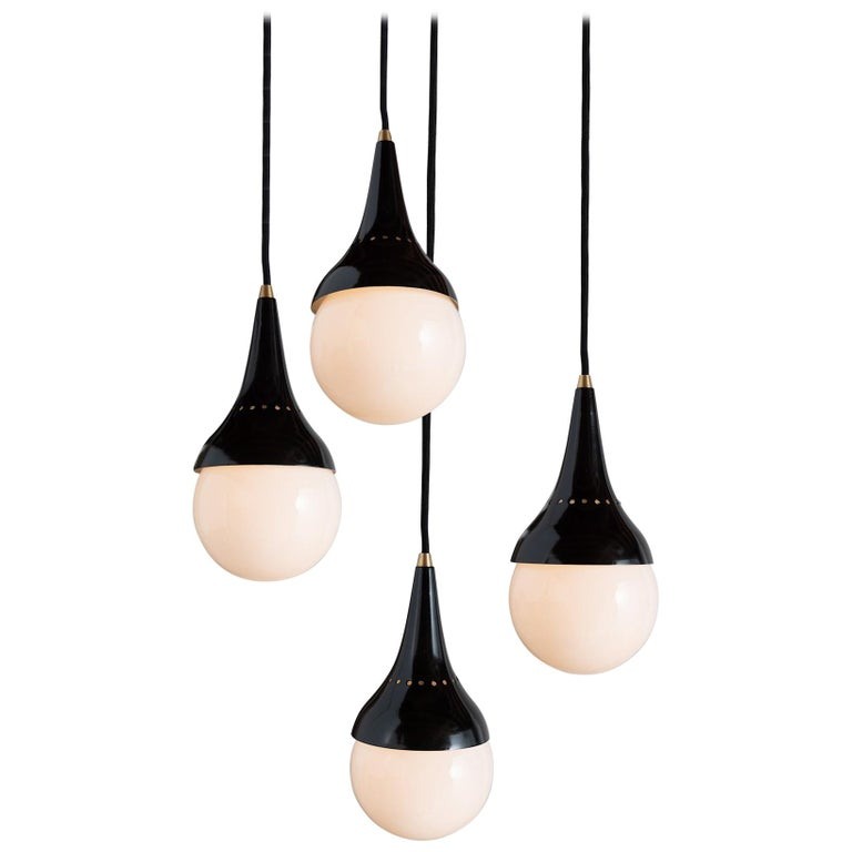 Stilnovo Pendants, Italy, 1950 For Sale