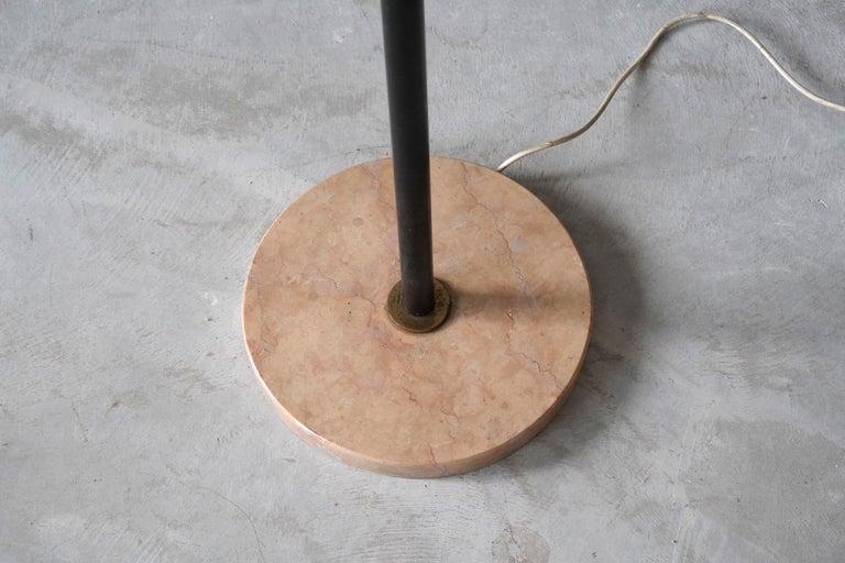 Stilnovo, Rare Modernist Floor Lamp, Marble, Glass, Brass, Metal, Italy, 1950s 1