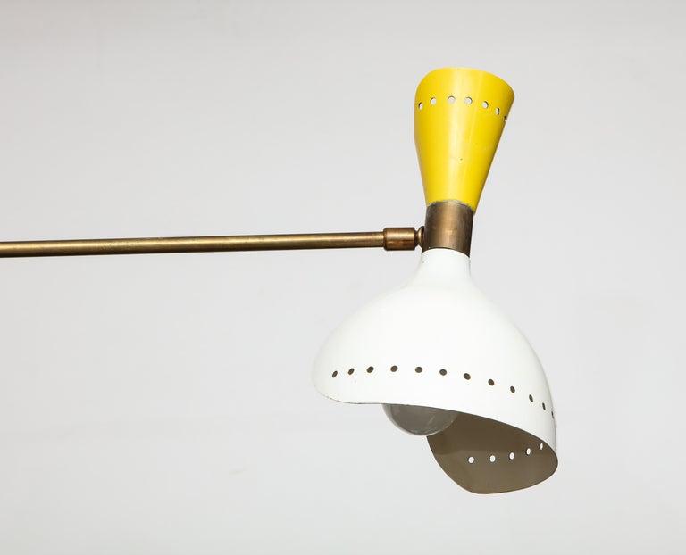 Stilnovo Rare Chandelier In Good Condition For Sale In New York, NY