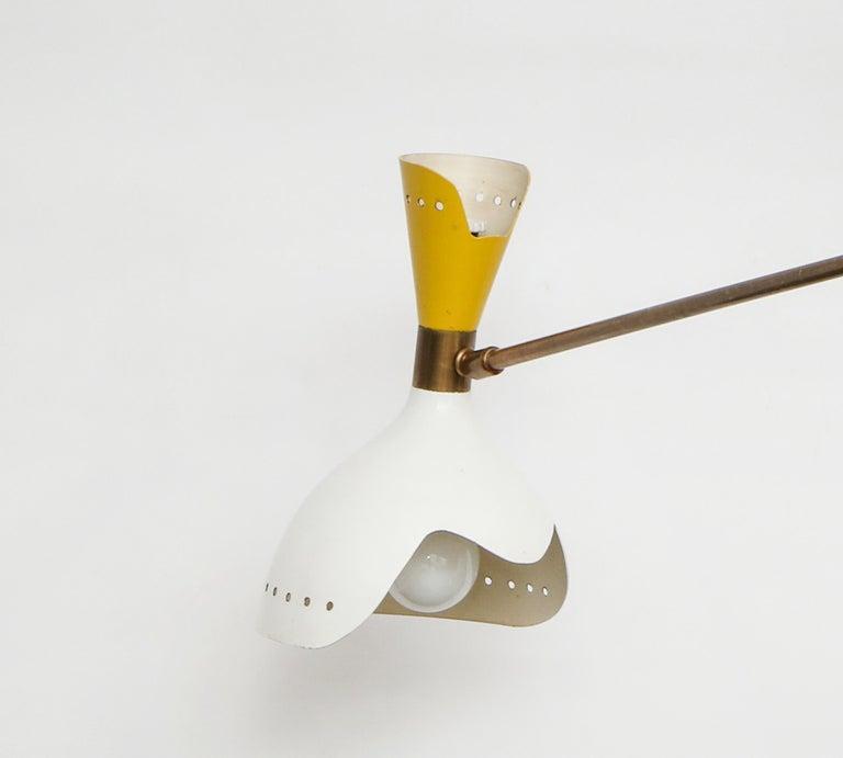 Mid-20th Century Stilnovo Rare Chandelier For Sale