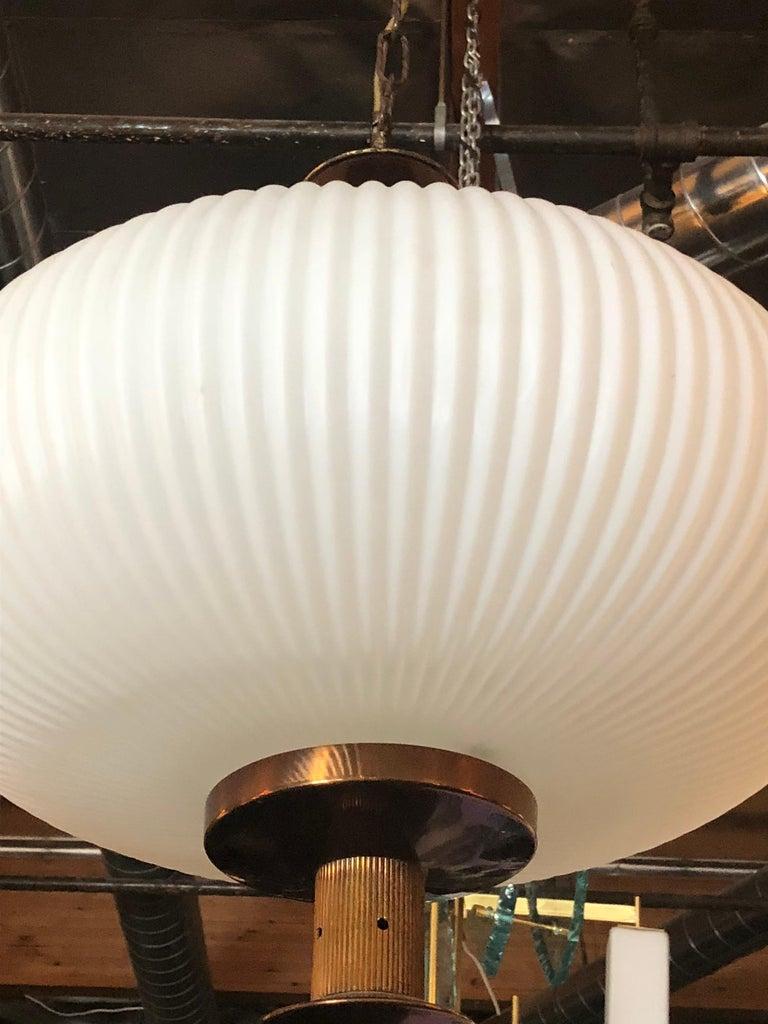 Italian Stilnovo Ribbed Lantern For Sale