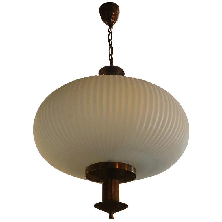 Stilnovo Ribbed Lantern For Sale