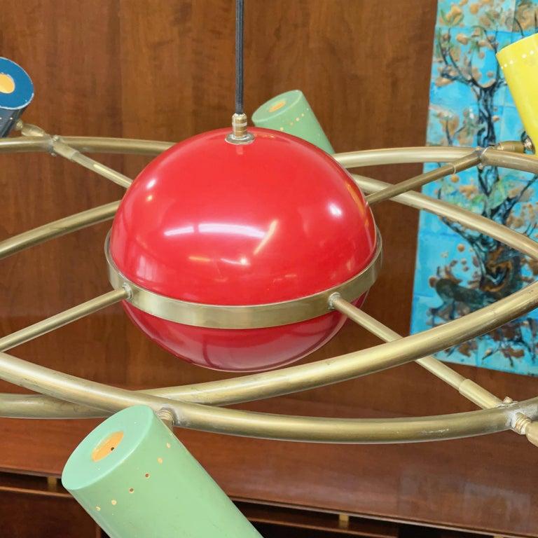 Stilnovo 'Saturno' Chandelier, Signed For Sale 5