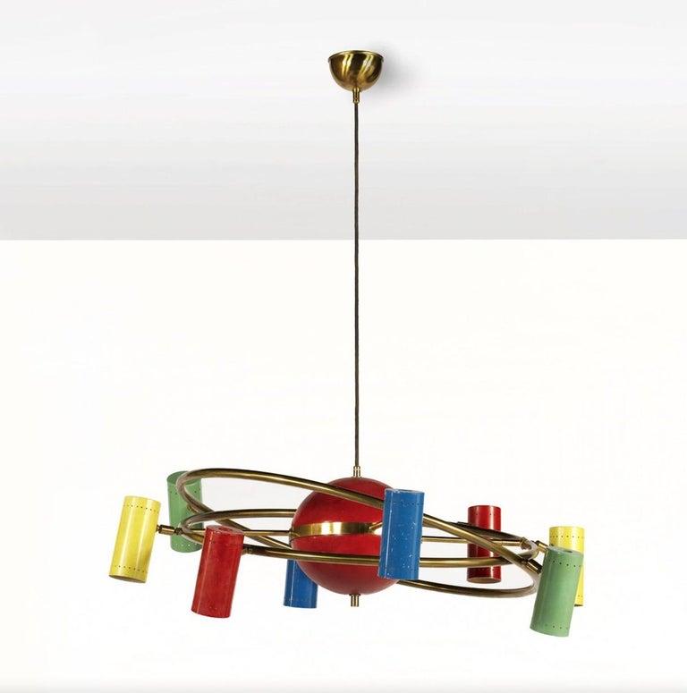 Stilnovo 'Saturno' Chandelier, Signed For Sale 10