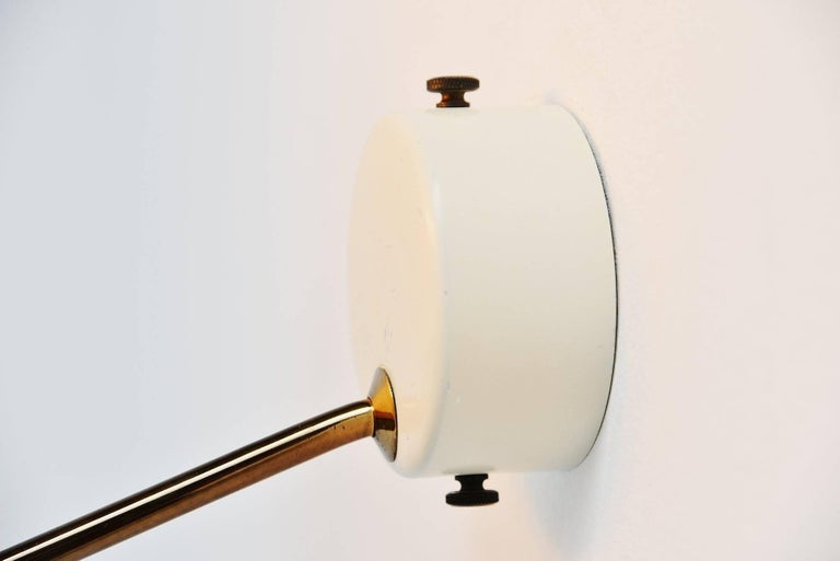 Cold-Painted Stilnovo Sconce Model 232 by Bruno Gatta, Italy, 1962 For Sale