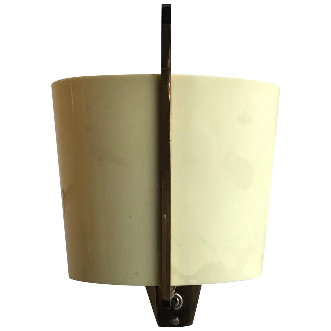 Stilnovo Sconce Signed Brass Plexiglas, 1955, Italy