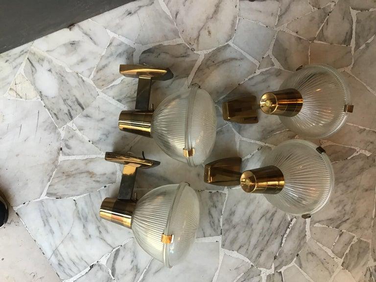 Stilnovosconces brass glass 1955, Italy.