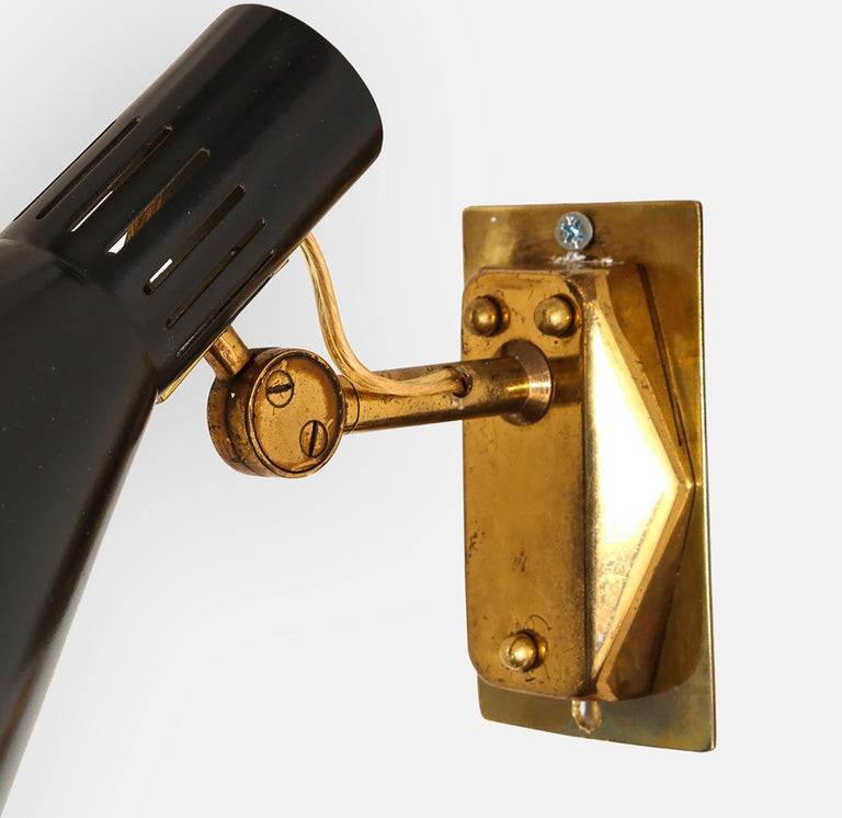 Brass Stilnovo Pairs of Sconces Model 2086 For Sale