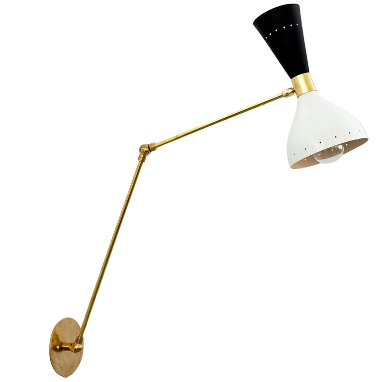 Stilnovo Style Articulating Sconce For Sale
